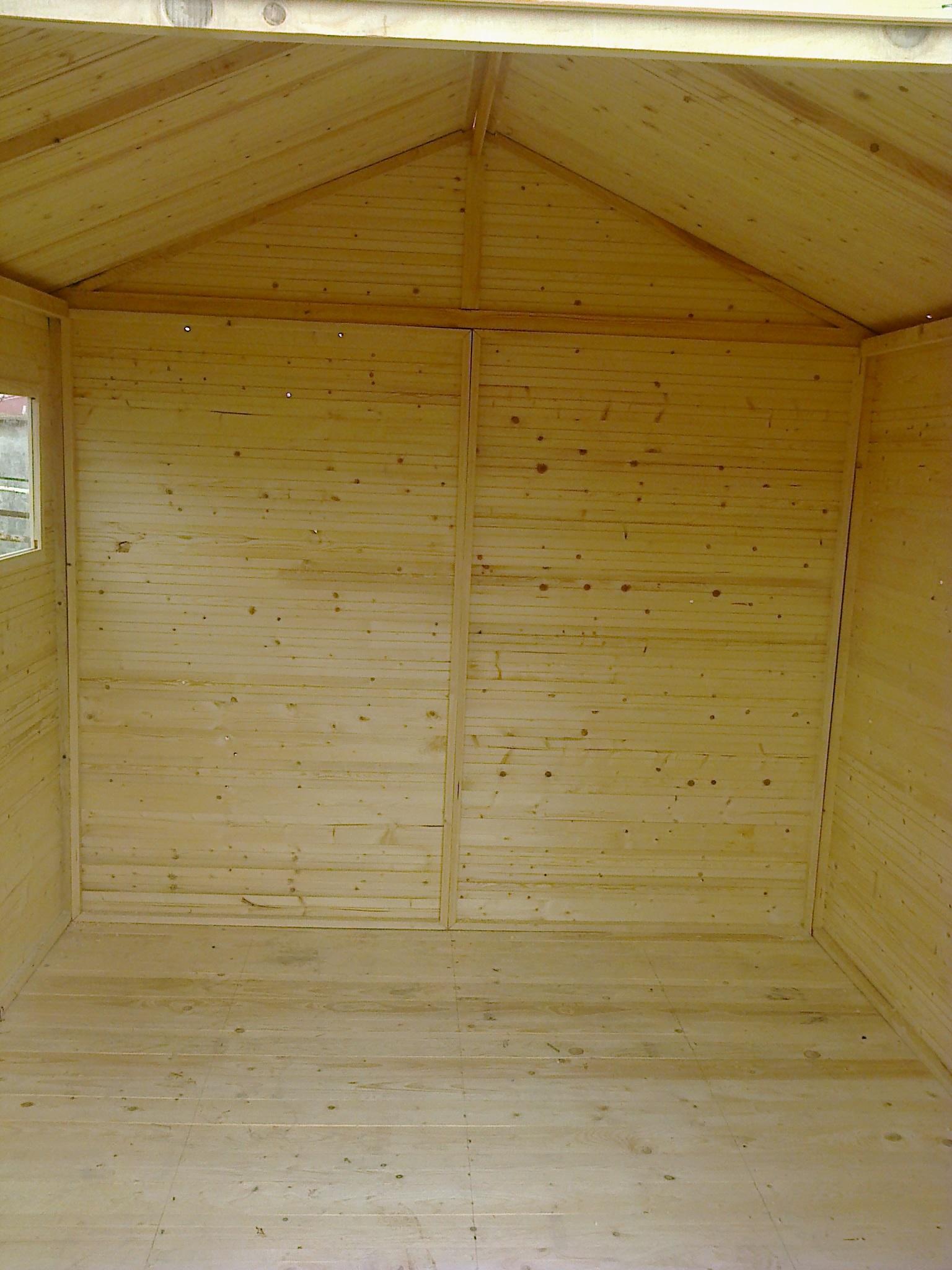 gartenh user bis 12 m2 gartenhaus aus holz 2 7m x 3 9m 16mm mit fenstern zaragoza. Black Bedroom Furniture Sets. Home Design Ideas