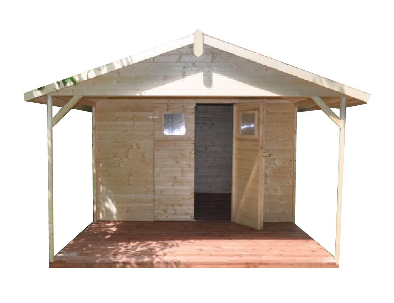 gartenh user mit terrasse gartenhaus aus holz mit terrasse 8 6m2 3 6m2 19mm mit fenstern. Black Bedroom Furniture Sets. Home Design Ideas