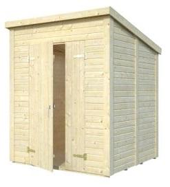 gartenh user mit pultdach gartenhaus aus holz 3 6m x 3 6m 16mm toledo ger tehaus cadema. Black Bedroom Furniture Sets. Home Design Ideas