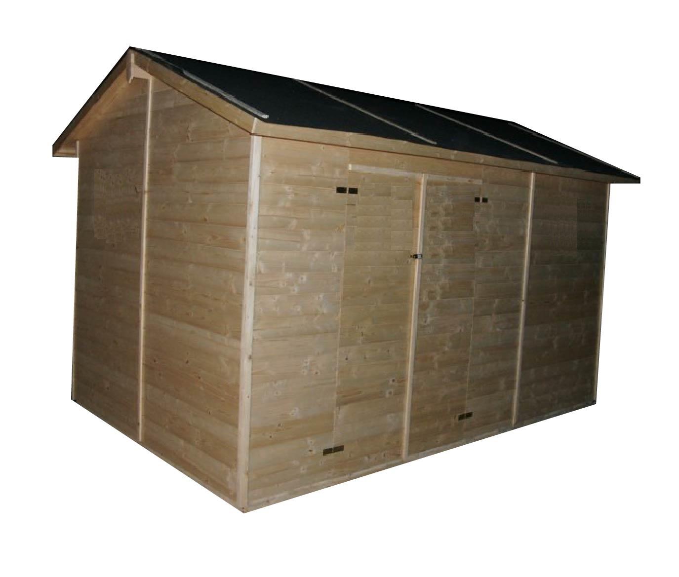 gartenh user bis 12 m2 gartenhaus aus holz 3 3m x 3 9m 19mm calpe ger tehaus cadema. Black Bedroom Furniture Sets. Home Design Ideas
