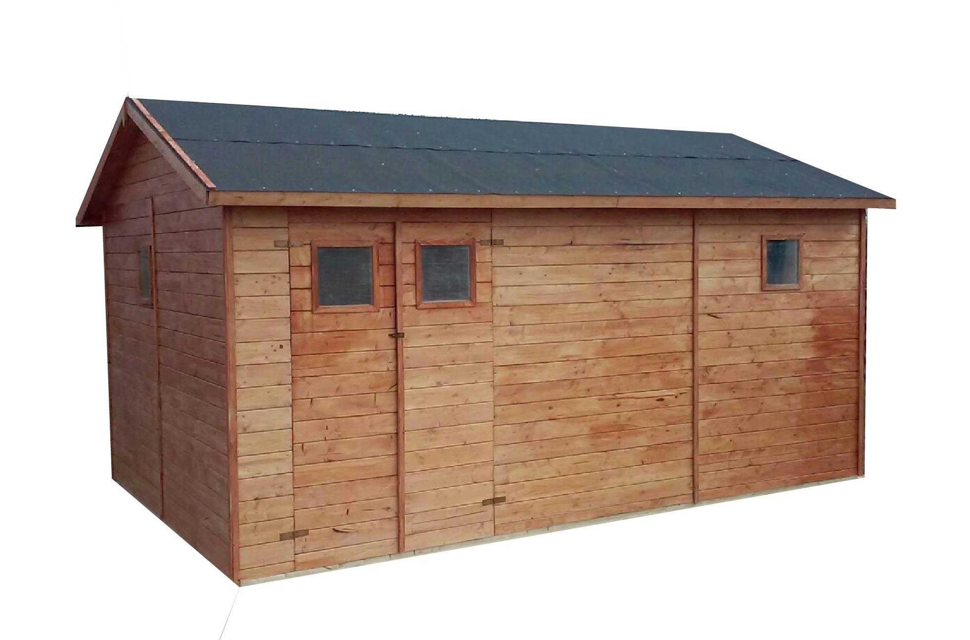 gartenh user bis 20 m2 gartenhaus aus holz 3 3m x 4 8m 19mm mit fenstern gandia. Black Bedroom Furniture Sets. Home Design Ideas