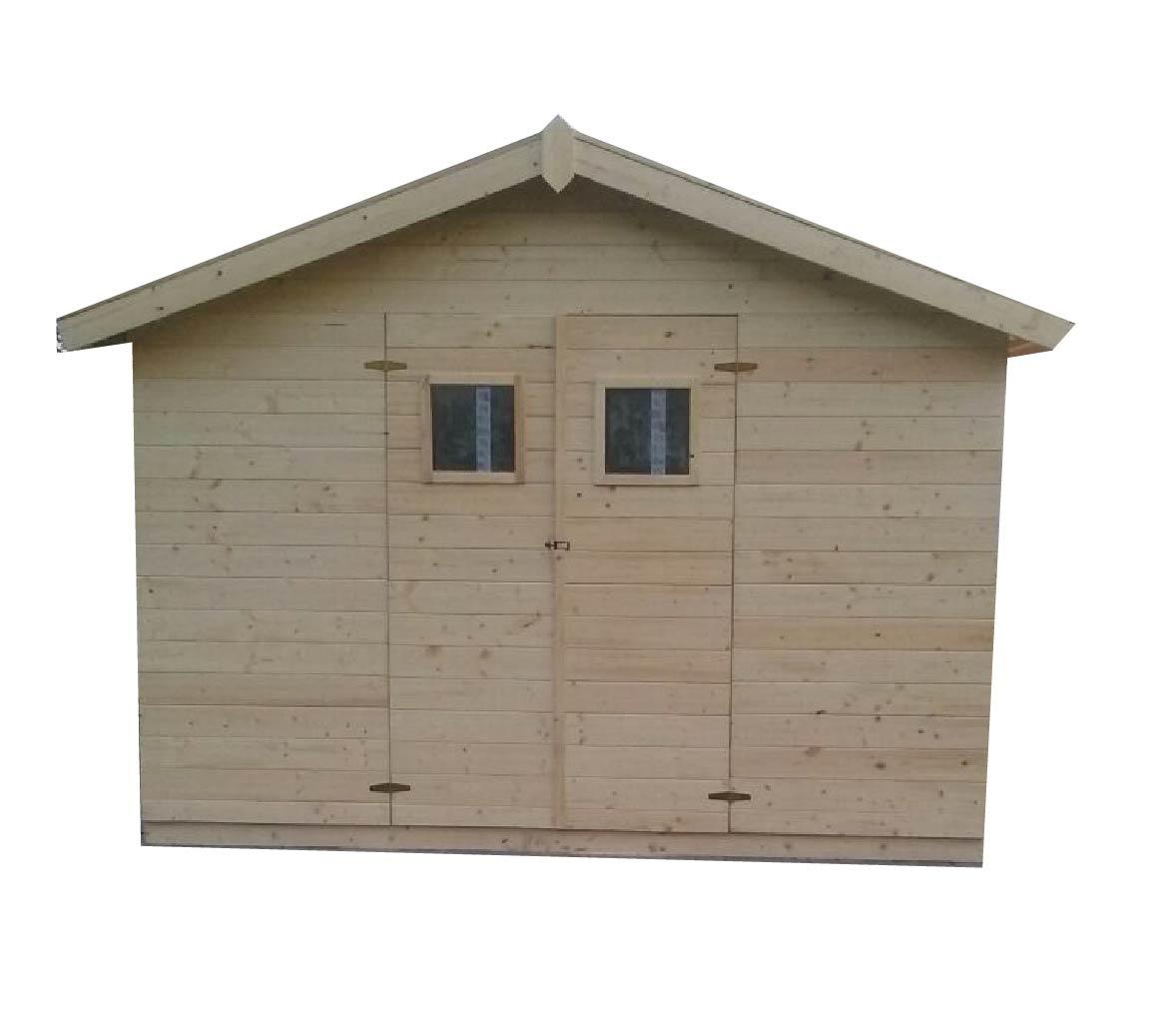 gartenh user bis 8 m2 gartenhaus aus holz 2 7m x 2 7m 19mm mit fenstern murcia. Black Bedroom Furniture Sets. Home Design Ideas