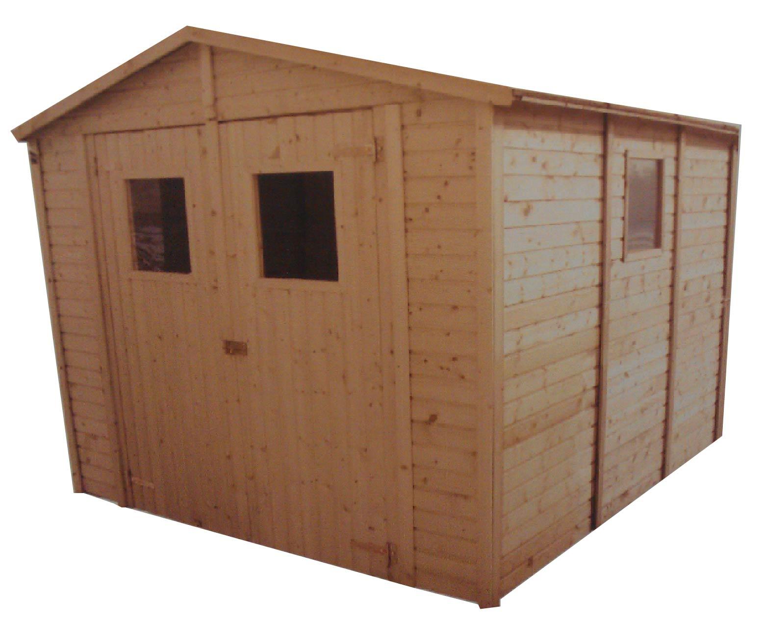 gartenh user bis 12 m2 gartenhaus aus holz 3 3m x 3 9m 16mm mit fenstern sevilla ii. Black Bedroom Furniture Sets. Home Design Ideas