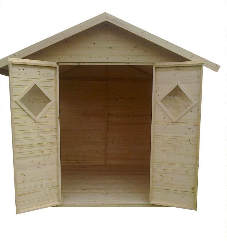 gartenh user bis 12 m2 gartenhaus aus holz 2 7m x 3 9m 19mm mit fenstern zaragoza. Black Bedroom Furniture Sets. Home Design Ideas