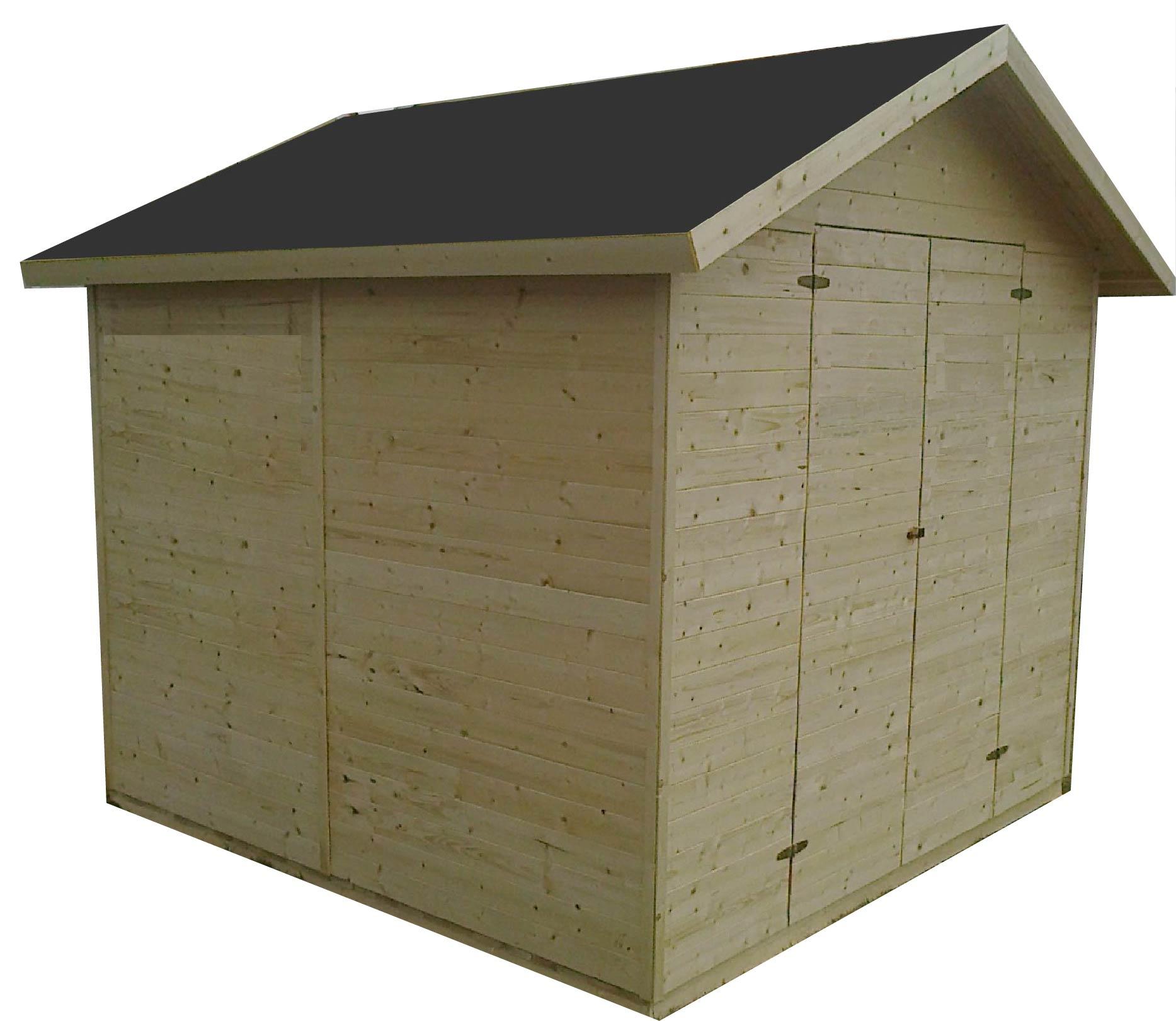 gartenh user bis 12 m2 gartenhaus aus holz 3 3m x 3 3m 16mm valencia ger tehaus cadema. Black Bedroom Furniture Sets. Home Design Ideas