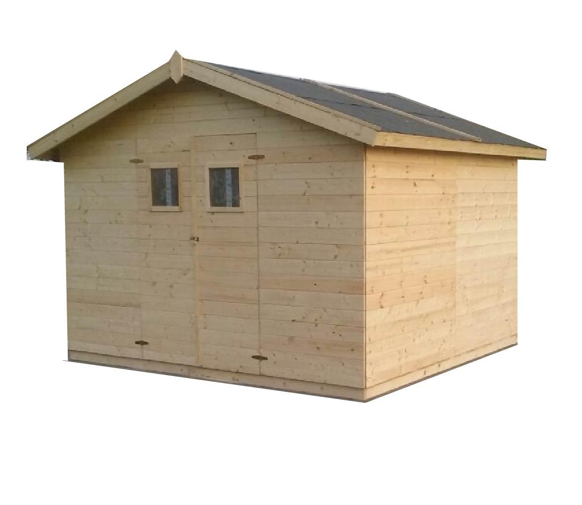 gartenhäuser bis 12 m2 | gartenhaus aus holz 3,3m x 3,3m, (16mm) mit