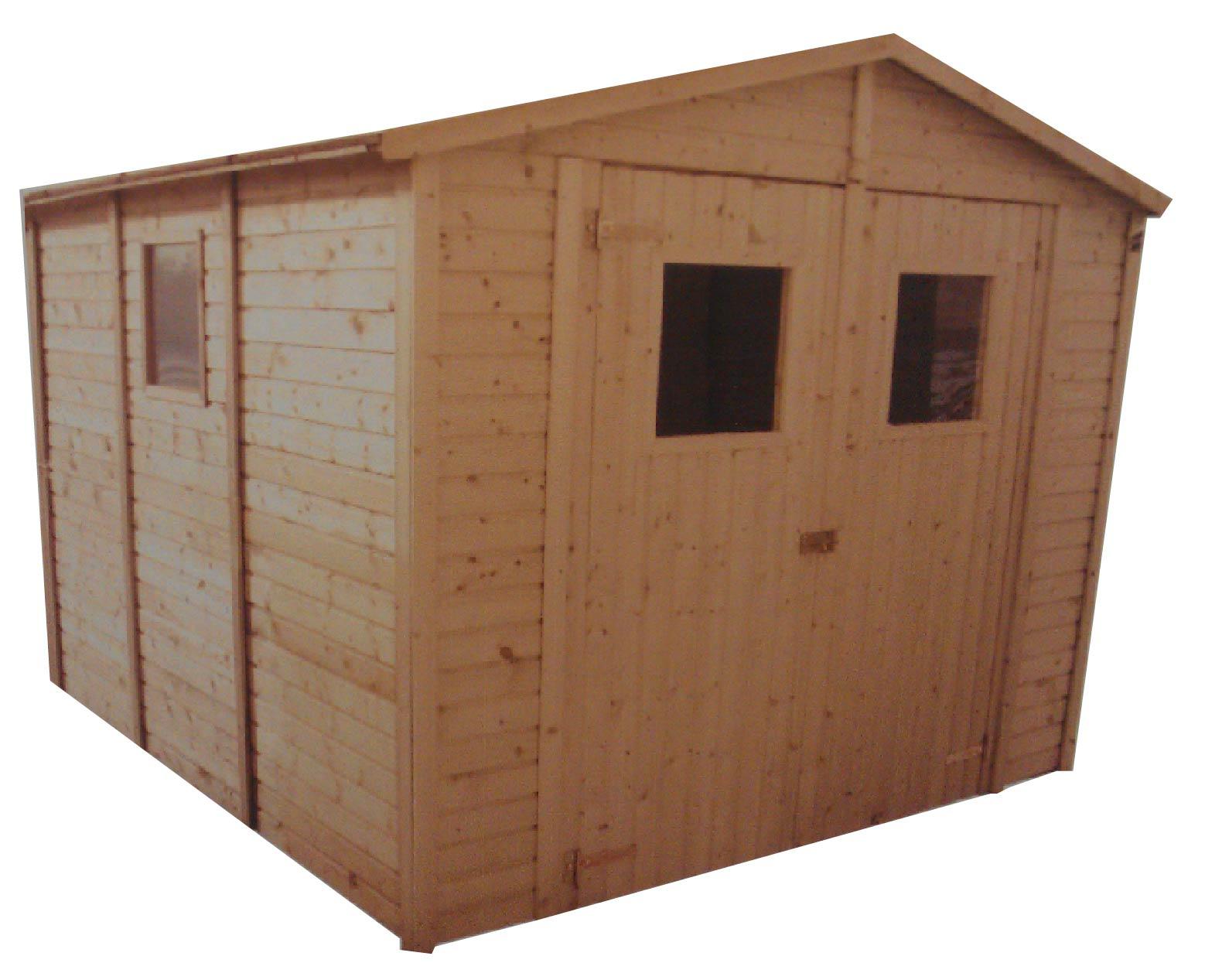 gartenh user bis 12 m2 gartenhaus aus holz 3 3m x 3 9m 19mm mit fenstern sevilla ii. Black Bedroom Furniture Sets. Home Design Ideas