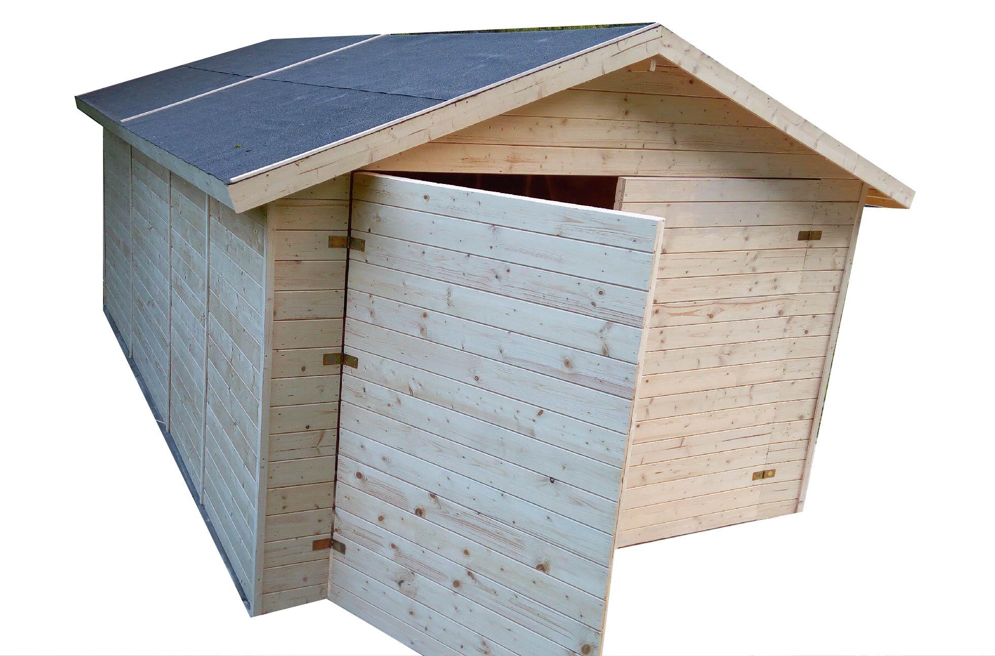 carports und garagen garage aus holz 3 3x5 3m 19mm cadema g nstigste gartenh user und. Black Bedroom Furniture Sets. Home Design Ideas
