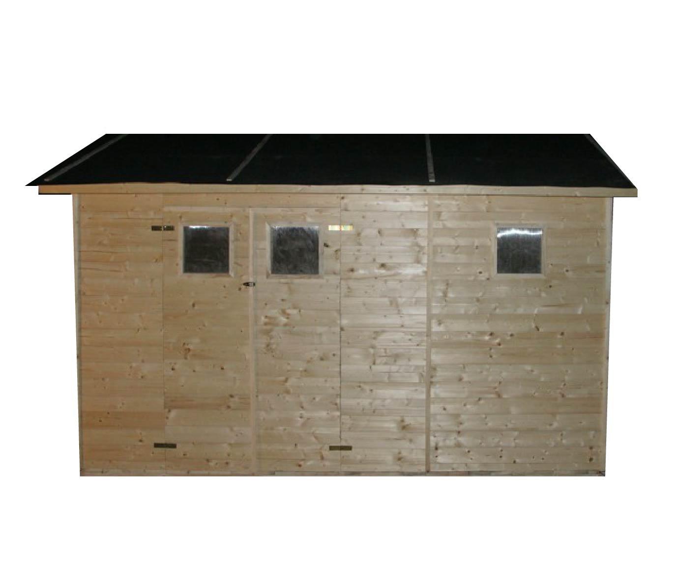 gartenh user bis 12 m2 gartenhaus aus holz 2 7m x 3 9m 19mm mit fenstern gilet ger tehaus. Black Bedroom Furniture Sets. Home Design Ideas