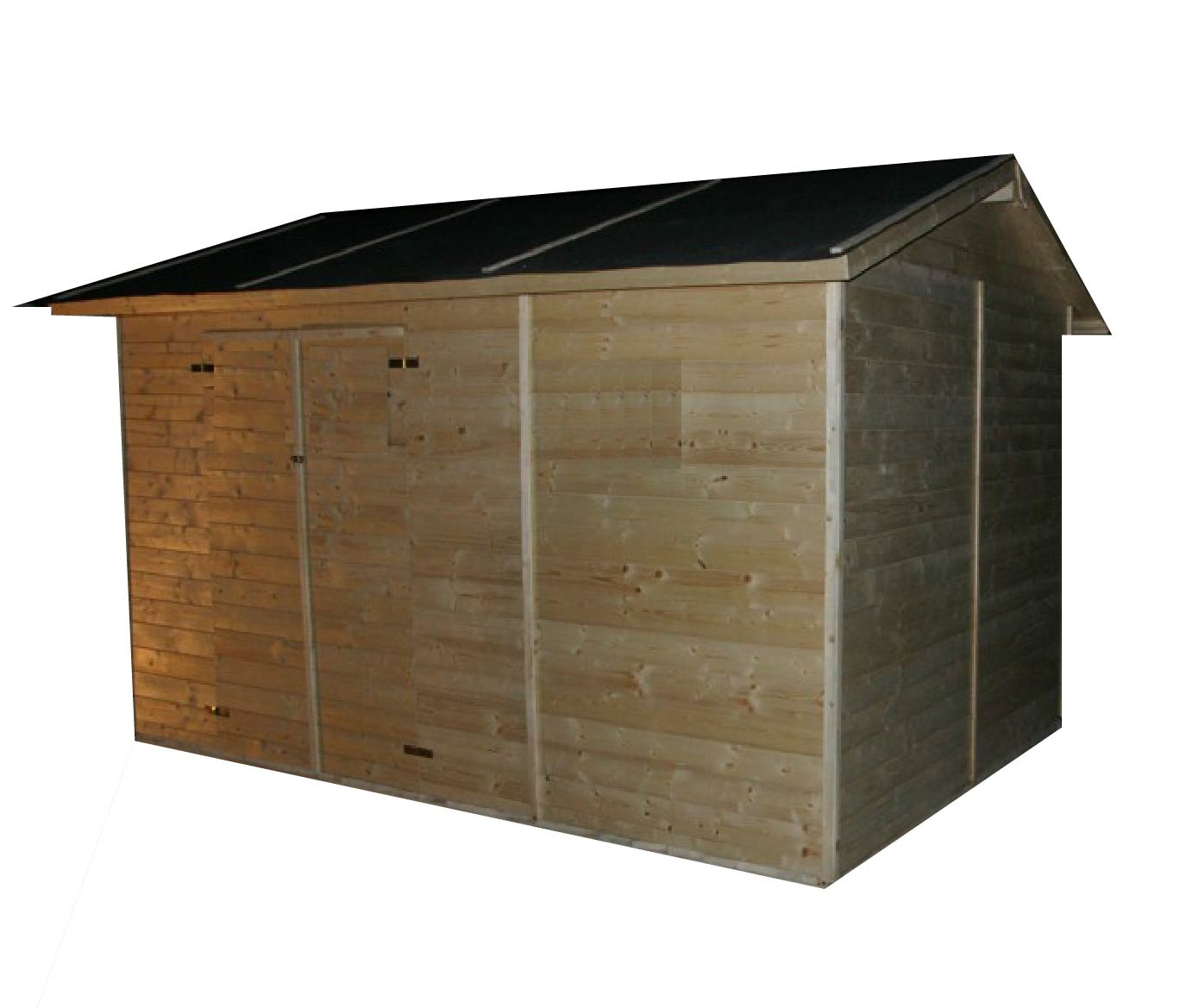 gartenh user bis 12 m2 gartenhaus aus holz 3 3m x 3 9m. Black Bedroom Furniture Sets. Home Design Ideas