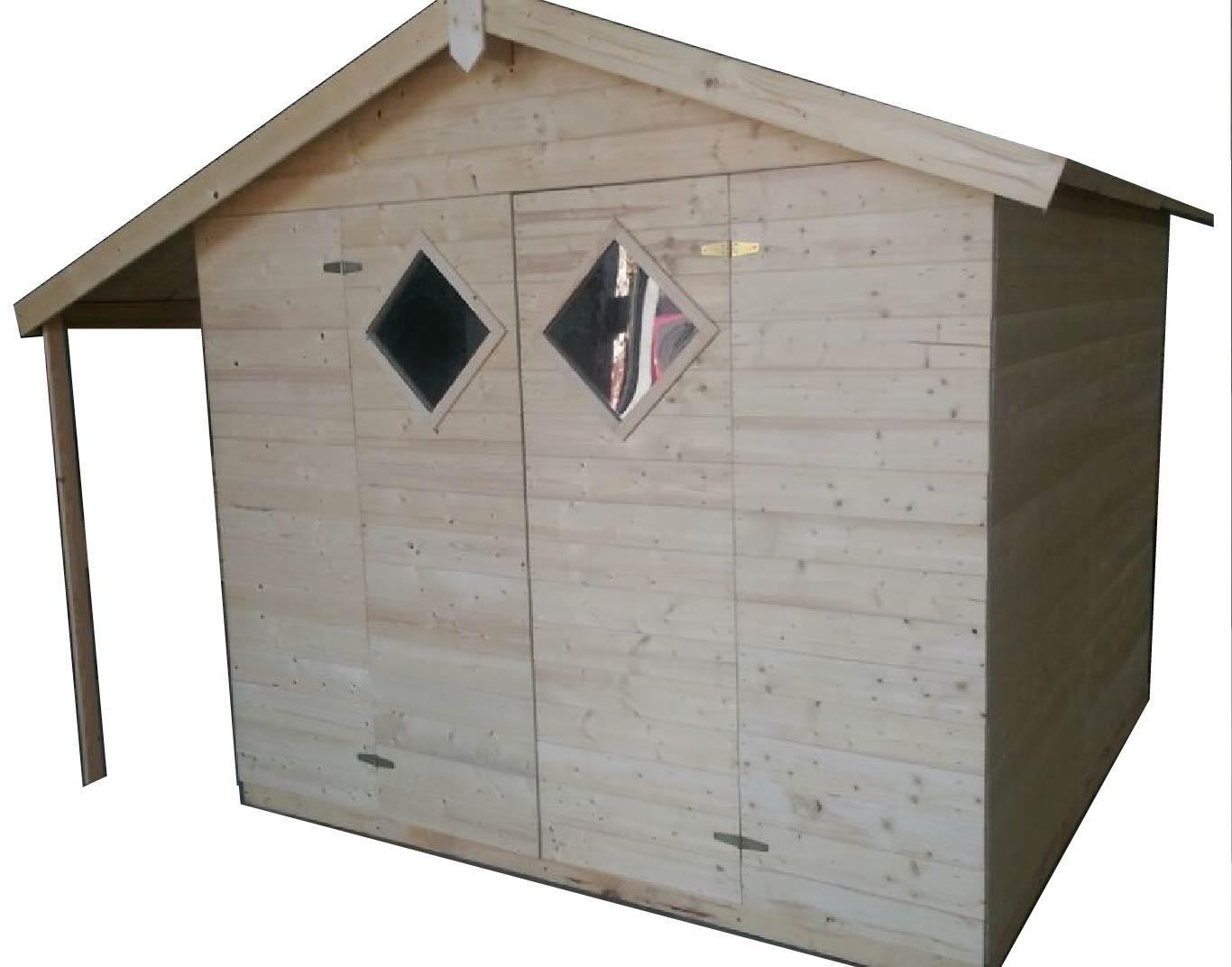 gartenh user bis 12 m2 gartenhaus aus holz 4 0m x 3 3m. Black Bedroom Furniture Sets. Home Design Ideas
