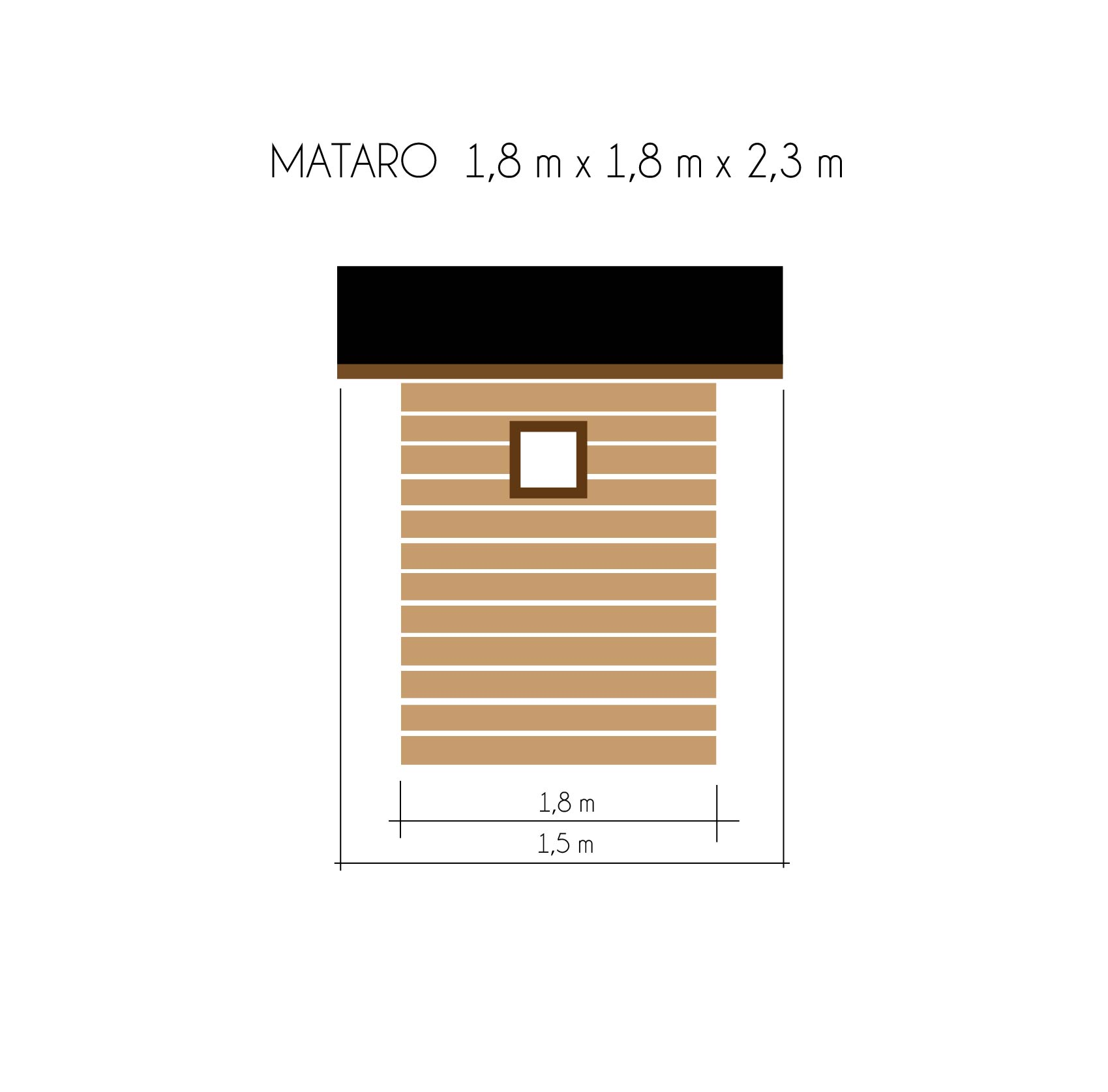 gartenh user bis 4 m2 gartenhaus aus holz 1 8m x 1 8m 16mm mit fenster mataro ger tehaus. Black Bedroom Furniture Sets. Home Design Ideas