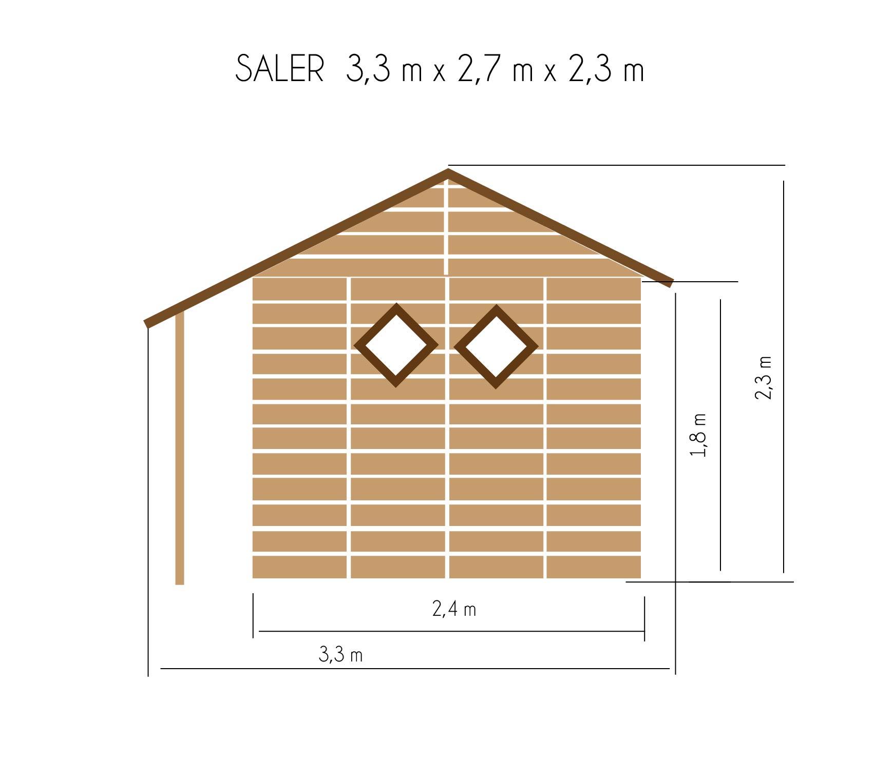gartenh user bis 8 m2 gartenhaus aus holz 3 3m x 2 7m 19mm mit fenstern ger tehaus. Black Bedroom Furniture Sets. Home Design Ideas